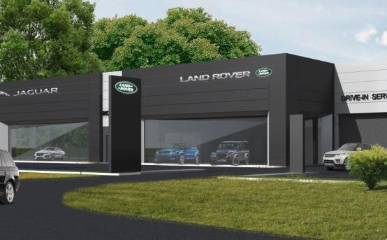 """Jaguar Land Rover"" showroom"